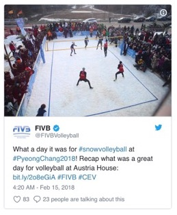 Snow Volleyball Is the Ultimate Way to Unite the Summer and Winter Olympics