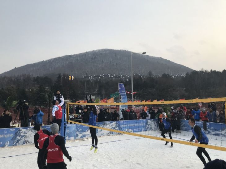 Snow volleyball at PyeongChang