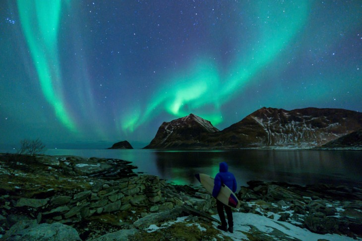 NORWAY-LIFESTYLE-TOURISM-SURFING-WEATHER-ARCTIC